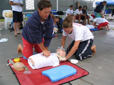 Lifeguards in Training Practice CPR