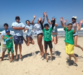 Beach CITs and Campers