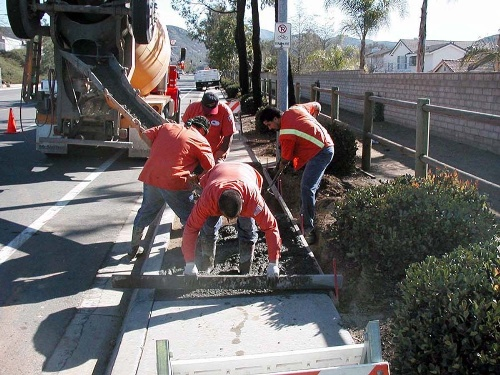 Laying Concrete for Sidewalks