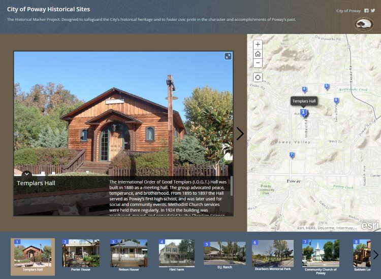 City of Poway Historical Sites Map Tour