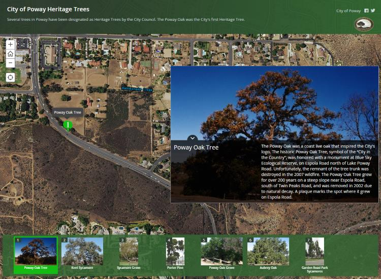City of Poway Heritage Trees Map Tour