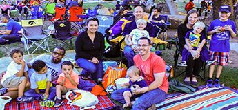 Families at Movies in the Park