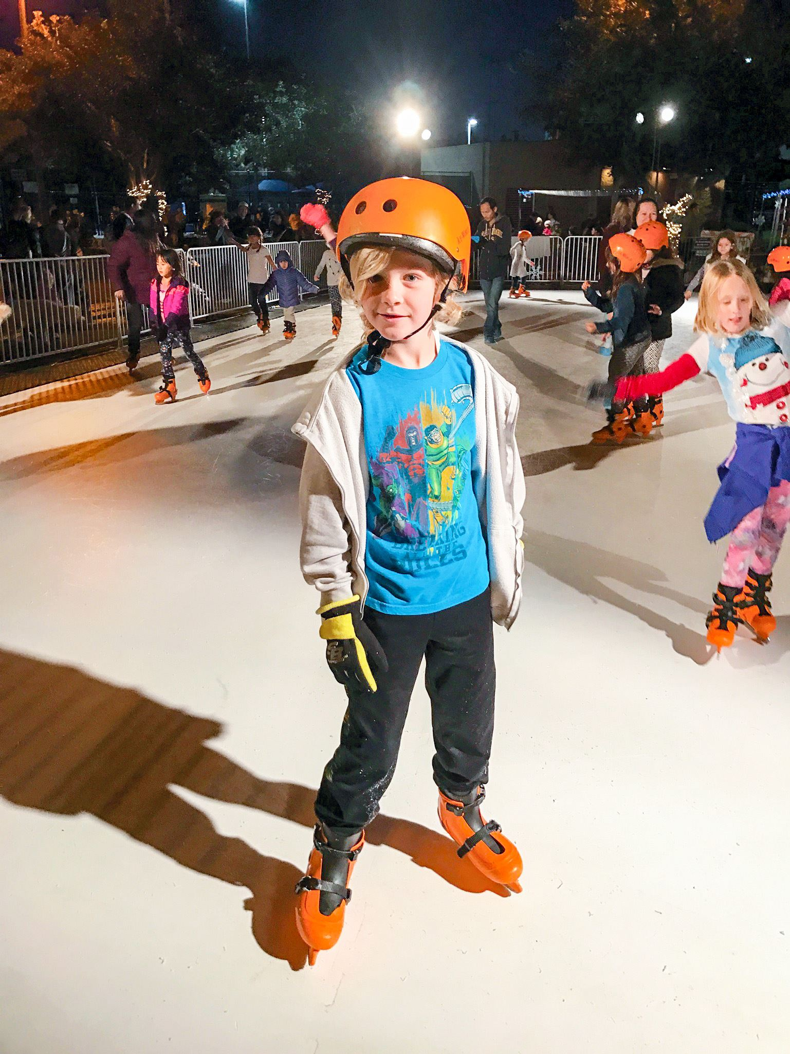 Winter Festival Kid Skating on Ice Rink 2018 January Poway Community Park FREE Family Youth Teen Fun