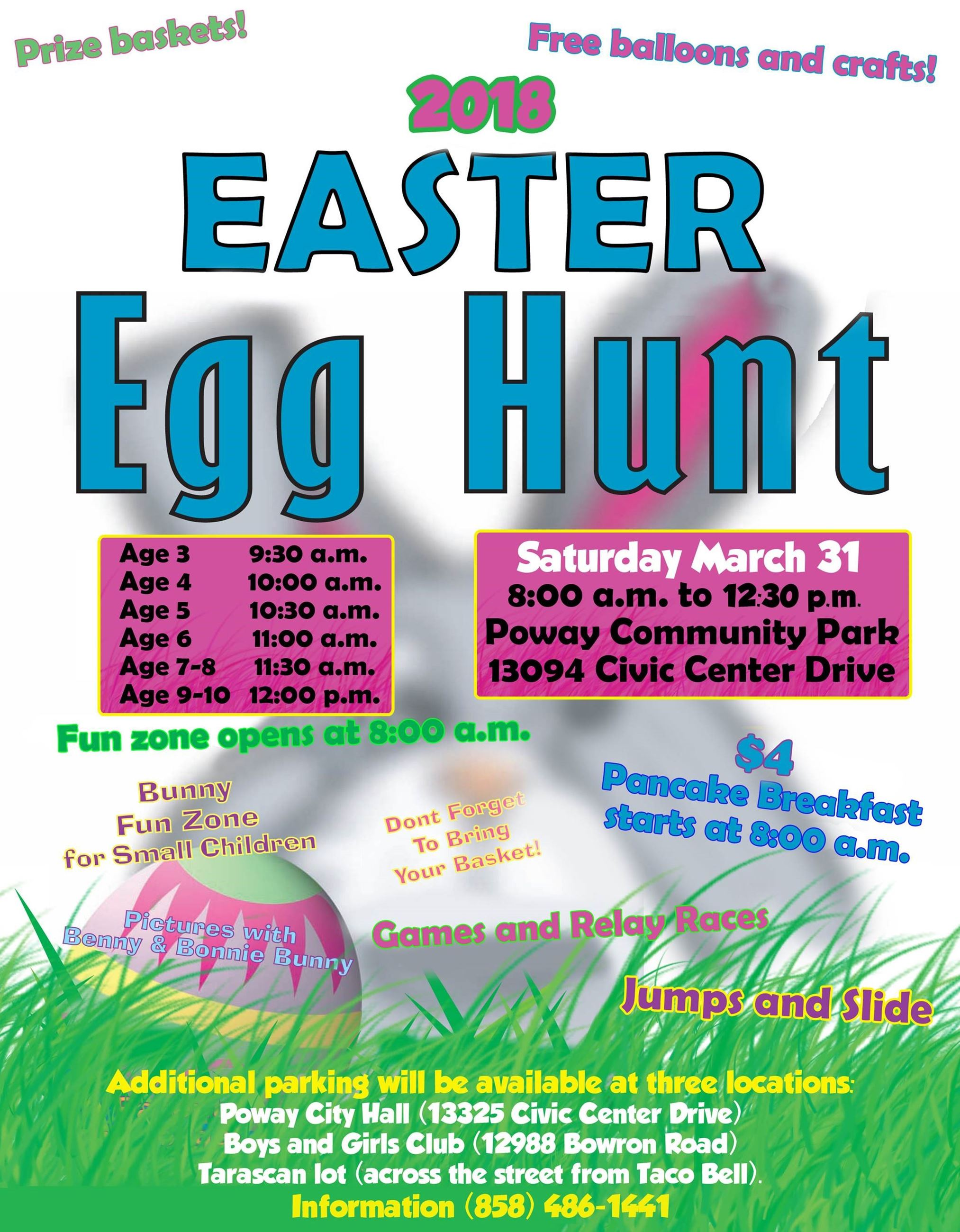 2018 Egg Hunt Community Park Children Toddlers Families Free Fun