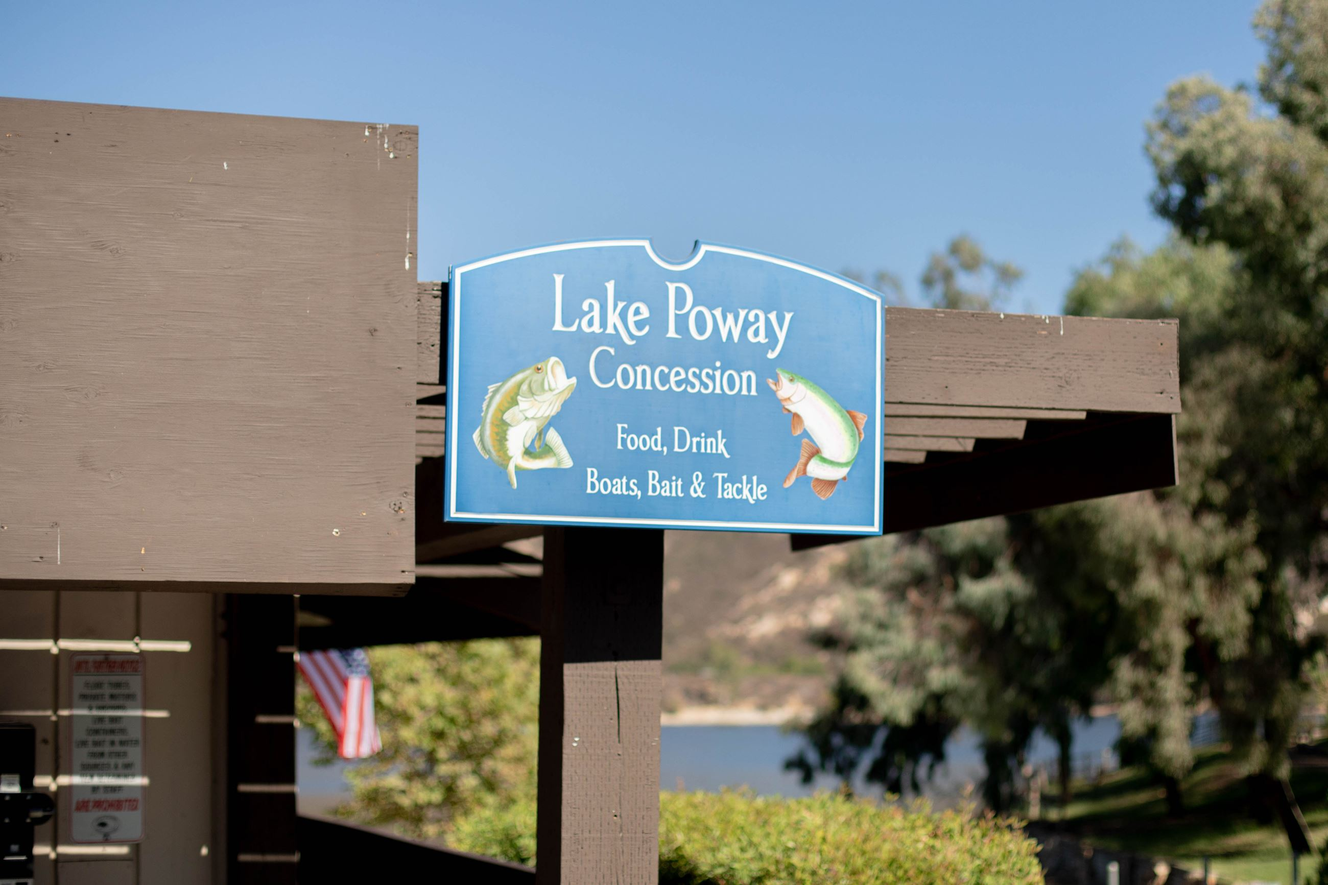 Lake Poway Concession Sign