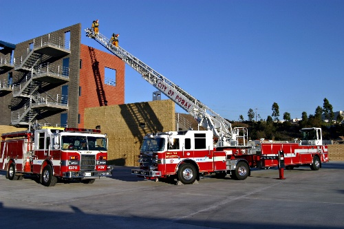 Poway Training Tower and Aerial Ladder Truck