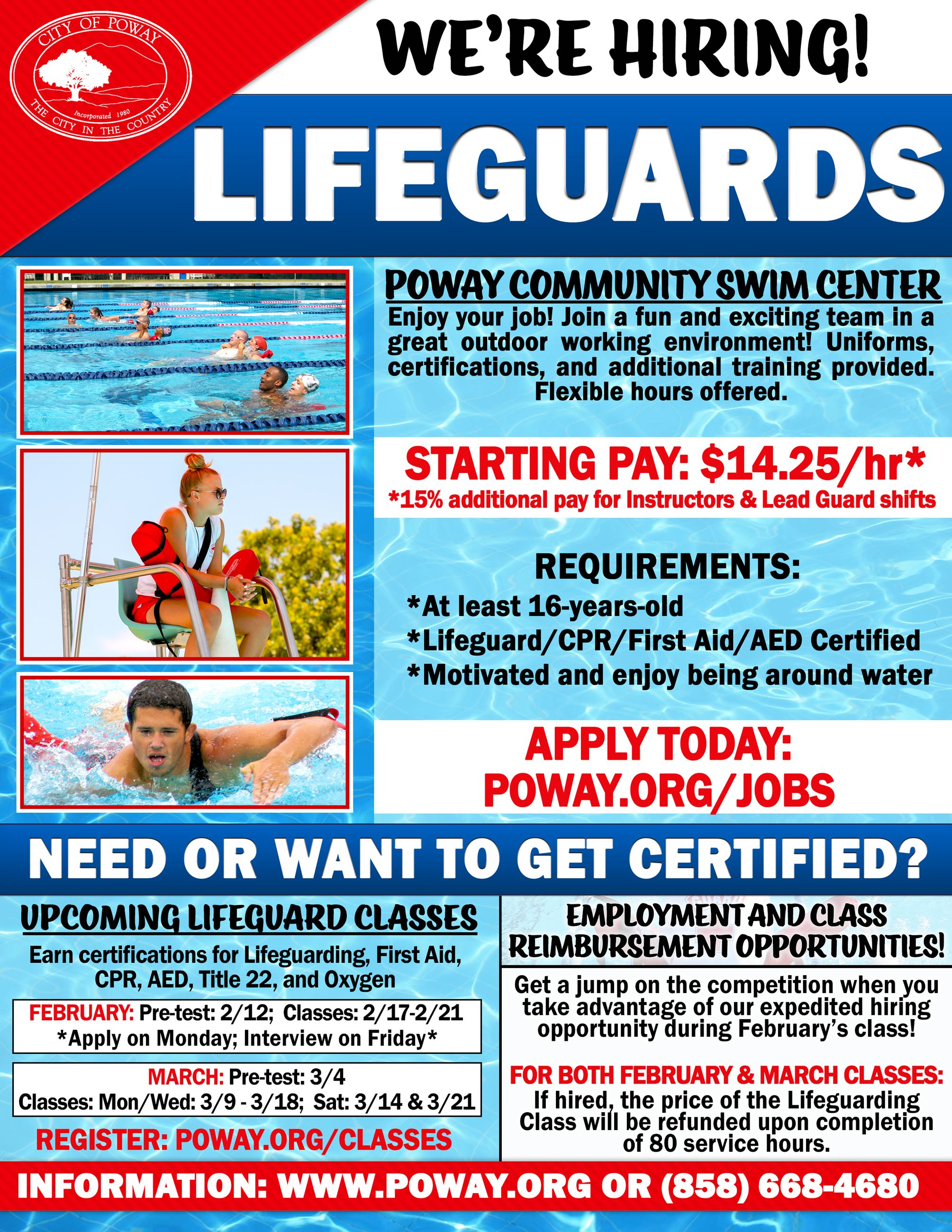 Lifeguards and Training Course - Flyer
