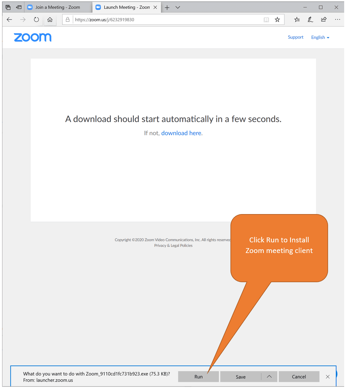 Install Zoom on Microsoft Edge