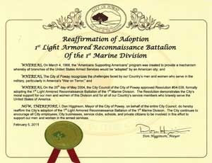 Adopted Battalion Affirmation