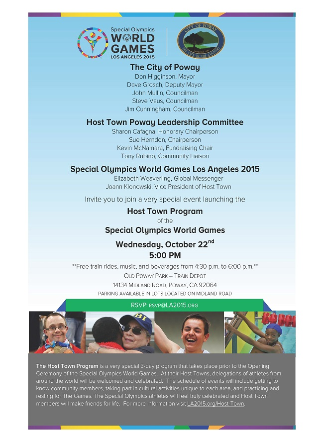 Special Olympics World Games Annoumcement Invitation